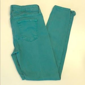 Just Black teal skinny jeans